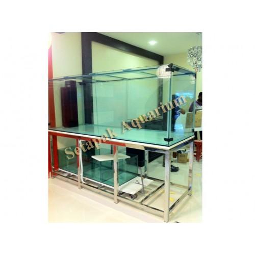 Stainless steel aquarium stand 02 aquarium stand for Metal fish tank stand